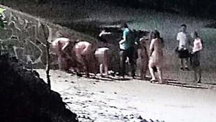 Tatil cennetinde rezalet ! 5 kadın, 1 erkek çıplak halde yakalandı