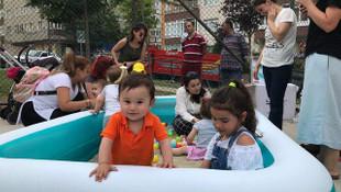 Maltepeli minikler seyyar oyun parkında gönüllerince eğlendi