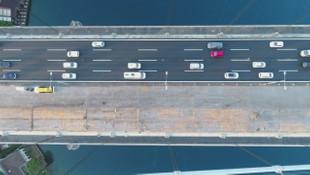 FSM Köprüsü'ndeki son durum havadan görüntülendi