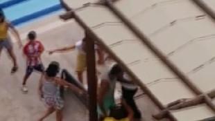 Havuz başında bayıltan dayak ! Nişanlı çift dehşeti yaşadı