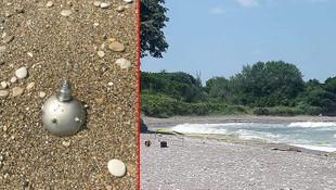 Yer: Düzce... Deniz mayını tetikleyicisi sahile vurdu