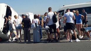 Turistler Denizli'de dehşeti yaşadı