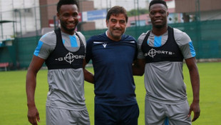 Trabzonspor Obi Mikel ve Ekuban'a özel antrenman