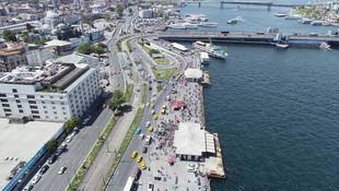 İstanbul'da kalan tatilciler oraya akın etti