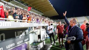 Abdurrahim Albayrak Fiorentina - Galatasaray maçını tribünden izledi