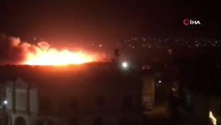 YPG'li teröristler hendekleri ateşe verdi !