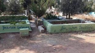 Mezarları tahrip edenler yakalandı