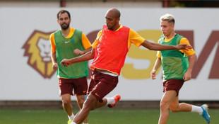 Steven Nzonzi Galatasaray'la ilk antrenmanına çıktı
