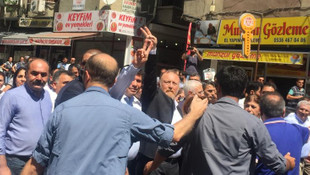 Diyarbakır'da HDP'lilere polis müdahalesi