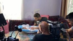 Tolgahan Sayışman, 3,5 aylık bebeğiyle dizide oynadı