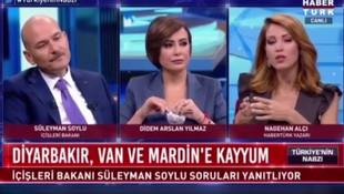 Süleyman Soylu'dan Nagehan Alçı'ya: ''Bu tahrik edici bir soru''