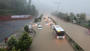 Zonguldak sağanak yağış sonrası sular altında kaldı