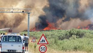 Balıkesir'de çıkan yangın o bölgeyi haritadan sildi