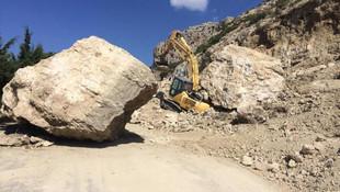 20 tonluk kaya düştü, ölümden döndü