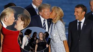 G7 Zirvesi'ne damga vuran kareler ! Trump'ı böyle öptü