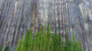 Türkiye'deki tek tescilli kayalık havadan görüntülendi