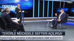 Ahmet Davutoğlu kimi kastettiğini açıkladı