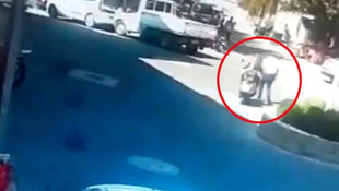 Acemi sürücü aynı kişiye 2 kez çarptı !
