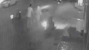 Genç kadına kocasının yanında saldırı