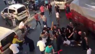 İstanbul'un göbeğinde tekmeli tokatlı kavga