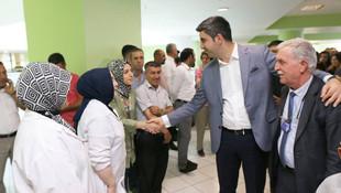 Gökhan Başkan belediye personeliyle bayramlaştı