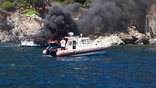 Lüks teknede korkutan yangın