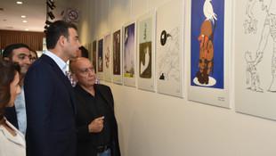 Barış Karikatürleri Sergisi Beşiktaş'ta açıldı