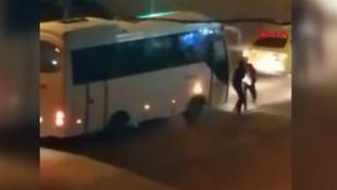 Taksiciden kadın yolcuya öldüresiye dayak