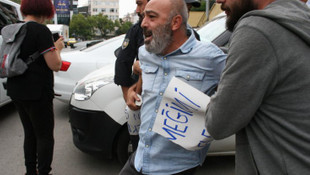 AK Parti binası önünde eyleme yaka paça gözaltı