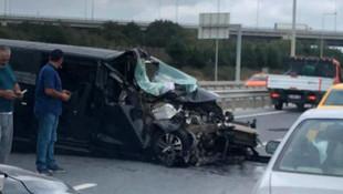 İstanbul Havalimanı  yolunda kaza: 2 kişi ağır yaralı