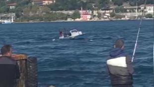 Boğaz'da hareketli dakikalar ! Tekne battı