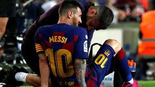 Barcelona'da Messi yine sakatlandı!