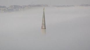 Büyükçemece'de sis etkili oldu