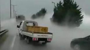Oksijen deposunda D-100'ü ulaşıma kapatan kaza!