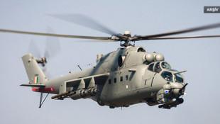Hindistan'a ait helikotper düştü: 2 pilot öldü