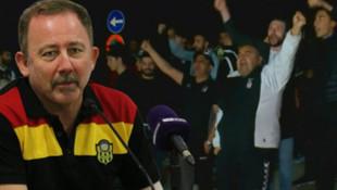 Beşiktaş taraftarından Sergen Yalçın tezahüratı
