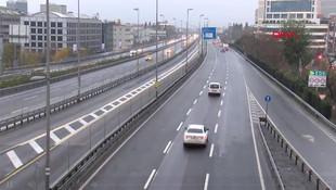İstanbul'da yılın ilk günü yollar boş kaldı