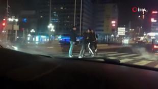 Trafikte ''yarış'' kavgası kamerada