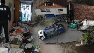 İstanbul'da çöp ev şaşkınlığı! Tam 20 ton çöp çıktı