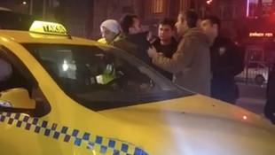 Polise direnen taksici kendini emniyet kemerine kilitledi