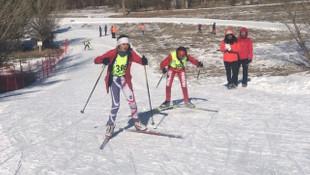 Kayaklı Koşu Eleme Müsabakaları'nda 446 sporcu yarıştı
