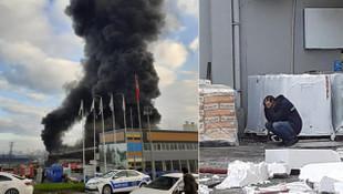 Plastik fabrikası alev alev yandı