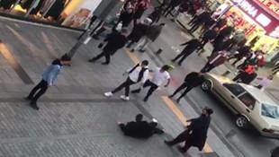 İstanbul'da tekme tokat kavga kamerada