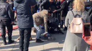 ''Sağlıkta şiddet'' eylemine polis müdahalesi
