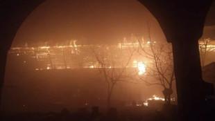 Tokat'ta Yazmacılar Çarşısı'nda yangın ! Alev alev yandı