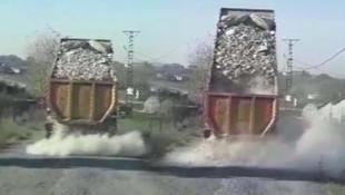 İstanbul'da hafriyat kamyonu terörü bitmiyor ! Şoke eden görüntüler
