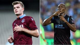 Trabzonspor'un en istikrarlıları Sörloth ve Nwakaeme