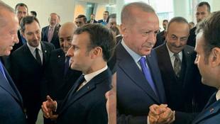 Erdoğan, ''Sen kendi beyin ölümünü kontrol et'' dediği Macron'la el ele