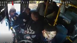Otobüsteki hırsızlık anı kamerada!