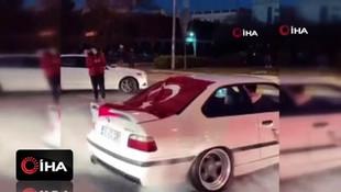 İstanbul'da asker uğurlama konvoyunda ''drift'' terörü